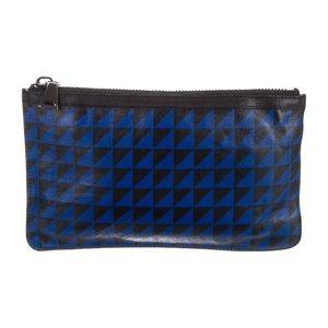 Proenza Schouler Geometric Print Leather Clutch